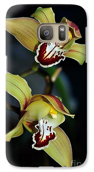 Orchids In The Evening Galaxy S7 Case by Kaye Menner