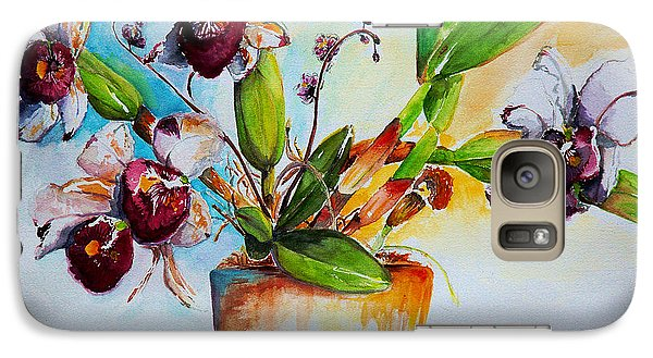 Galaxy Case featuring the painting Orchids Of The Bay by Bernadette Krupa