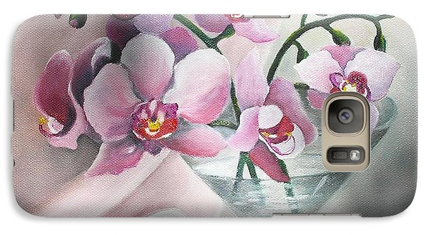 Galaxy Case featuring the painting Orchids by Vesna Martinjak