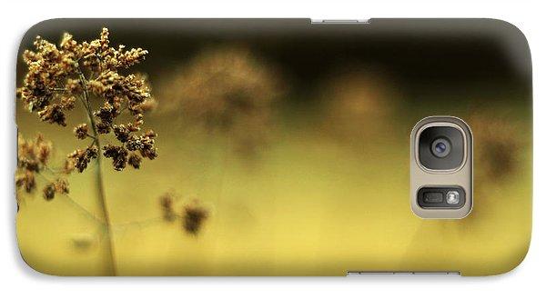 Galaxy Case featuring the photograph Oregano Winter Warmth by Rebecca Sherman