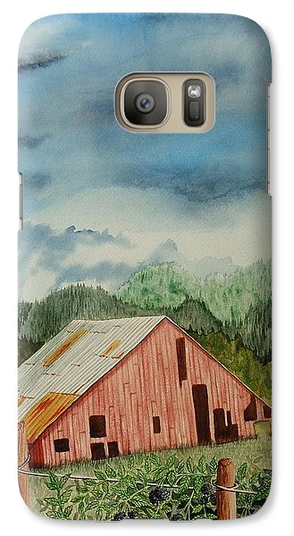 Galaxy Case featuring the painting Oregon Barn by Katherine Young-Beck
