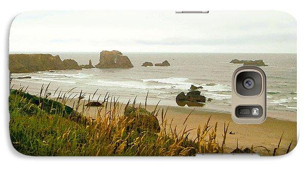 Galaxy Case featuring the digital art Oregon Beach by Kenneth De Tore