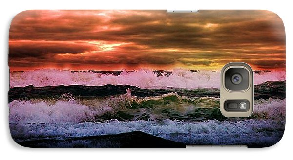 Galaxy Case featuring the digital art Ocean Storm by Aaron Berg