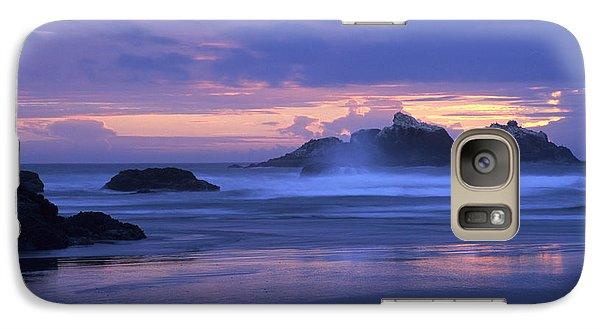 Galaxy Case featuring the photograph Oregon Coast Sunset by Chris Scroggins