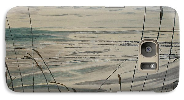 Galaxy Case featuring the painting Oregon Coast With Sea Grass by Ian Donley
