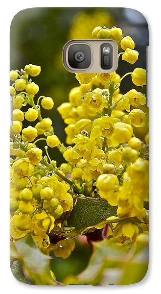 Galaxy Case featuring the photograph Oregon Grape Blossoms by Todd Kreuter
