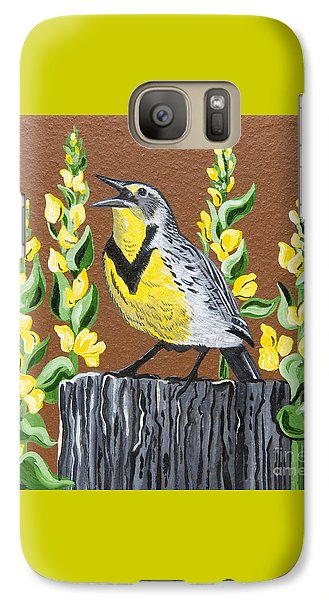 Galaxy Case featuring the painting Oregon Meadowlark by Jennifer Lake