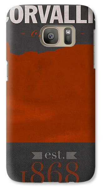 Oregon State University Beavers Corvallis College Town State Map Poster Series No 087 Galaxy S7 Case by Design Turnpike
