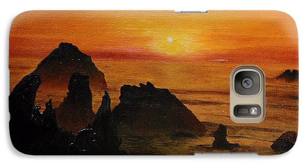 Galaxy Case featuring the painting Oregon Sunset by Suzette Kallen