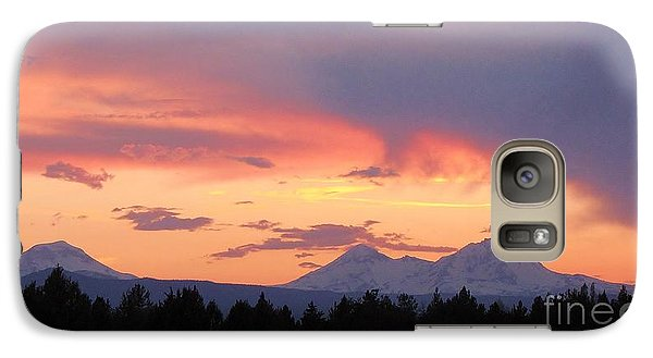 Galaxy Case featuring the photograph Oregon's Three Sisters  by Michele Penner