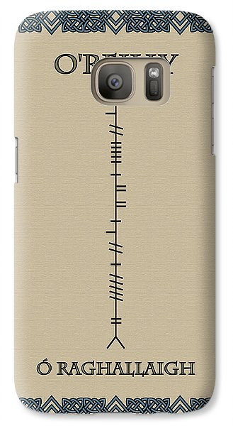 Galaxy Case featuring the digital art O'reilly Written In Ogham by Ireland Calling