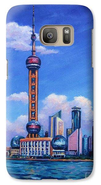 Oriental Pearl Shanghai Galaxy Case by John Clark