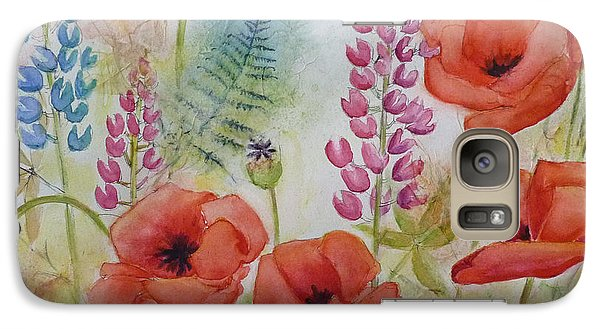 Galaxy Case featuring the painting Oriental Poppies Meadow by Carla Parris