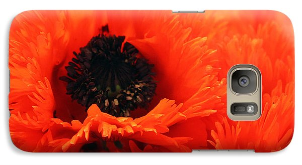 Galaxy Case featuring the photograph Oriental Poppy by Gerry Bates