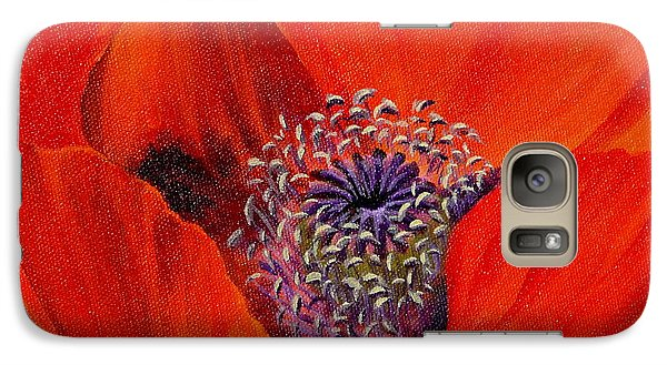 Galaxy Case featuring the painting Oriental Poppy by Jo Appleby