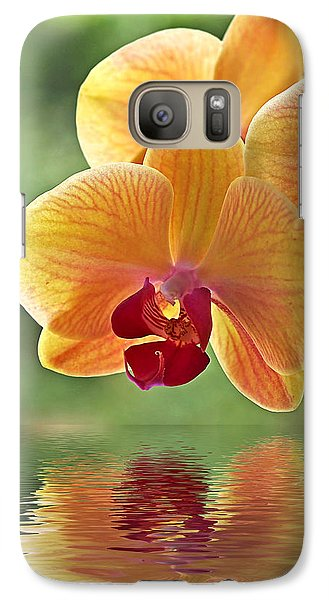 Orchid Galaxy S7 Case - Oriental Spa - Square by Gill Billington