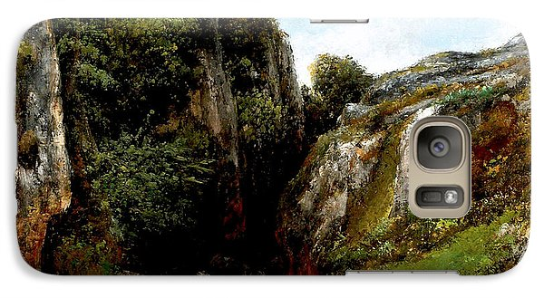 Galaxy Case featuring the digital art Origin Of A Stream by Gustave Courbet