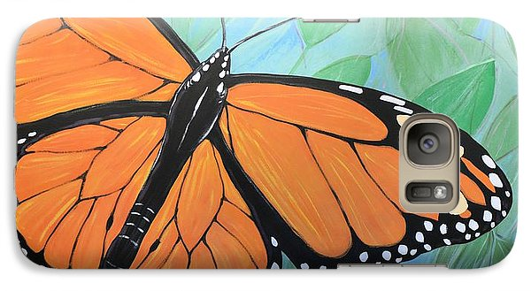 Galaxy Case featuring the painting Original Abstract Painting Butterfly Print ... Monarch by Amy Giacomelli