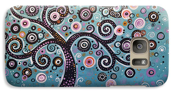 Galaxy Case featuring the painting Original Abstract Tree Landscape Painting ... Dancing In The Light by Amy Giacomelli