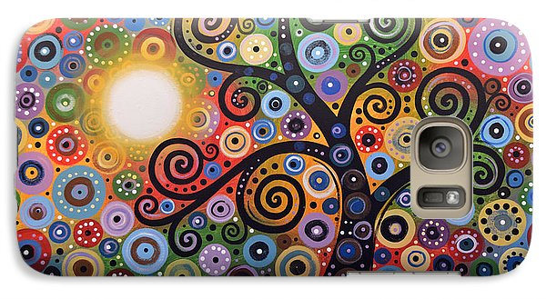 Galaxy Case featuring the painting Original Abstract Tree Landscape Painting ... Memory Of Magic by Amy Giacomelli