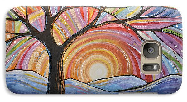 Galaxy Case featuring the painting Original Abstract Tree Landscape Painting ... Mountain Majesty by Amy Giacomelli