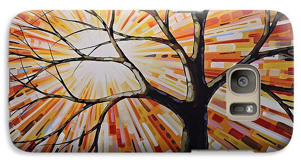 Galaxy Case featuring the painting Original Abstract Tree Landscape Painting ... Shine by Amy Giacomelli