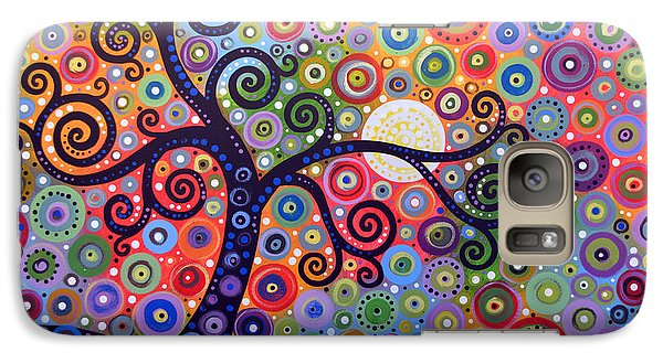 Galaxy Case featuring the painting Original Abstract Tree Landscape Painting ... The Coming Day by Amy Giacomelli