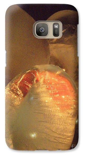 Galaxy Case featuring the sculpture Original Heart by Kristine Nora