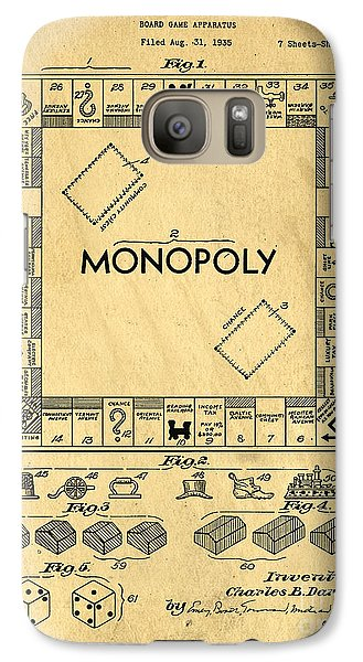 Original Patent For Monopoly Board Game Galaxy S7 Case