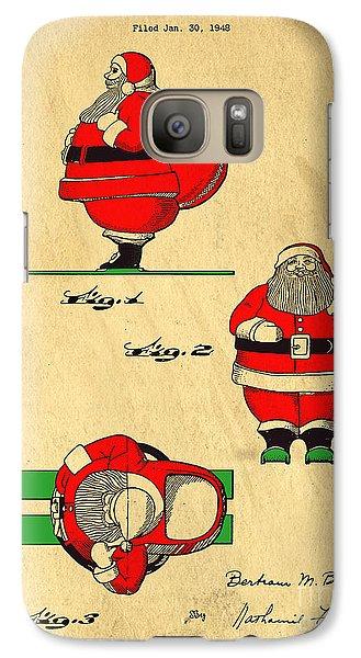 Original Patent For Santa On Skis Figure Galaxy S7 Case