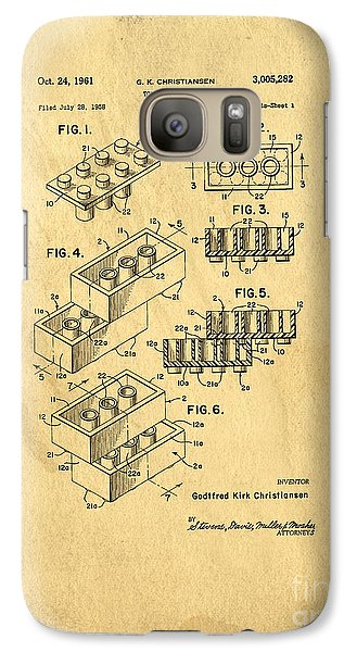 Original Us Patent For Lego Galaxy S7 Case by Edward Fielding