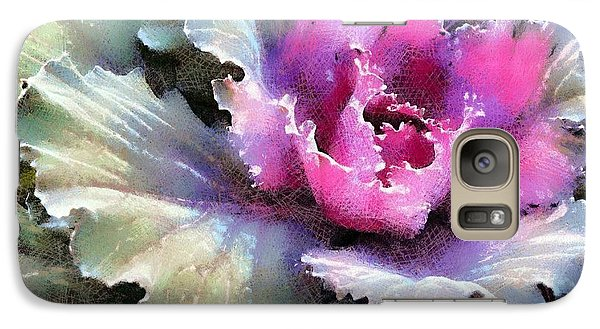 Galaxy Case featuring the photograph Ornamental Cabbage And Kale - Purple Frost by Janine Riley