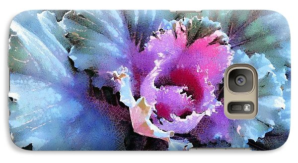 Galaxy Case featuring the photograph Ornamental Kale -blue Green by Janine Riley
