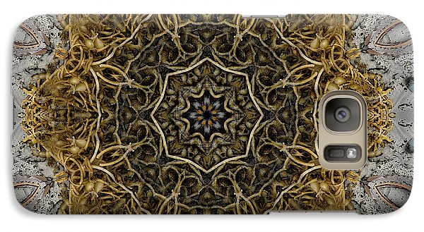 Galaxy Case featuring the digital art Ornate Inlay Dance Floor by Rhonda Strickland