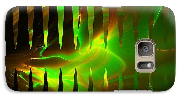Galaxy Case featuring the digital art Oscllscope by Melissa Messick