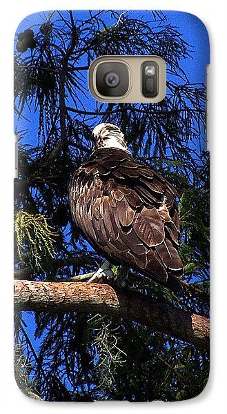 Galaxy Case featuring the photograph Osprey 005 by Chris Mercer