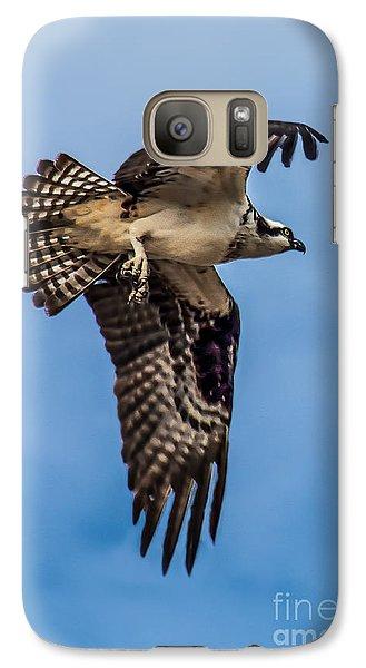Osprey Galaxy S7 Case - Osprey Flying Away by Robert Bales