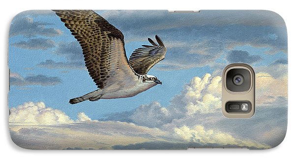 Osprey In The Clouds Galaxy Case by Paul Krapf