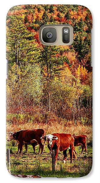 Galaxy Case featuring the photograph Cow Complaining About Much by Jeff Folger