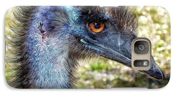 Galaxy Case featuring the photograph Ostrich 1 by Dawn Eshelman