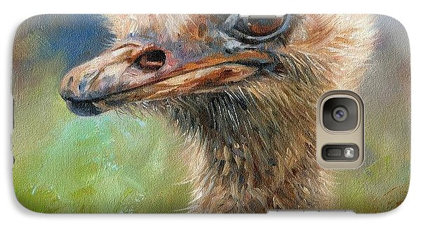 Ostrich Galaxy S7 Case by David Stribbling