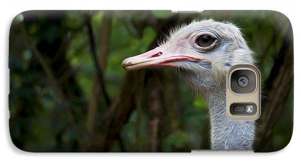 Ostrich Head Galaxy S7 Case by Aged Pixel