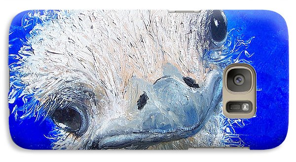 Ostrich Painting 'waldo' By Jan Matson Galaxy S7 Case by Jan Matson
