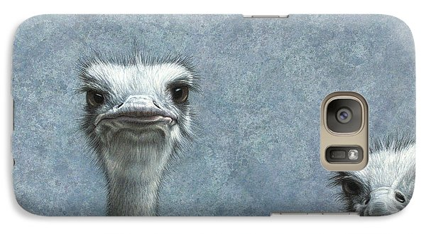 Ostriches Galaxy S7 Case by James W Johnson