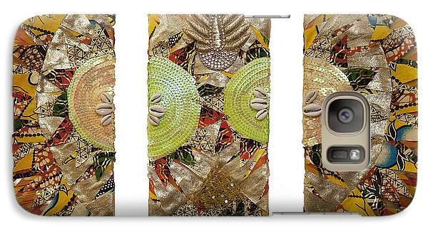 Galaxy Case featuring the tapestry - textile Osun Sun by Apanaki Temitayo M