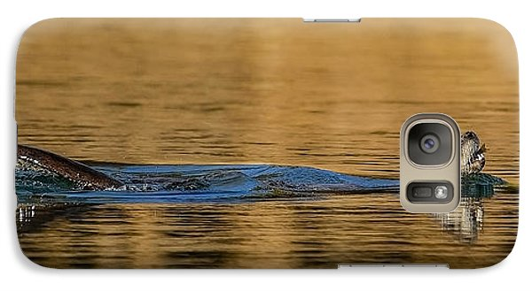 Galaxy Case featuring the photograph Otter Catch by Yeates Photography