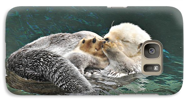 Galaxy Case featuring the photograph Otter Dreams by Mindy Bench