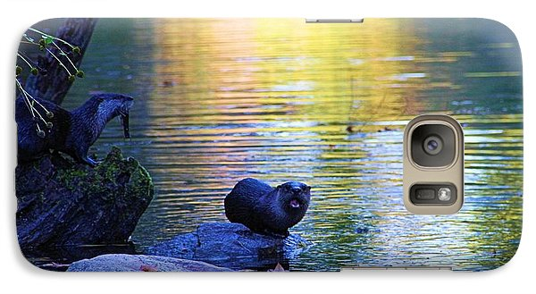 Otter Family Galaxy Case by Dan Sproul