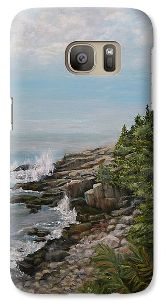 Galaxy Case featuring the painting Otter Point - New England by Sandra Nardone