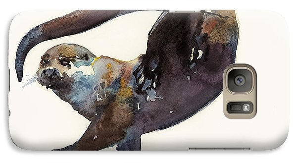 Otter Study II  Galaxy S7 Case by Mark Adlington
